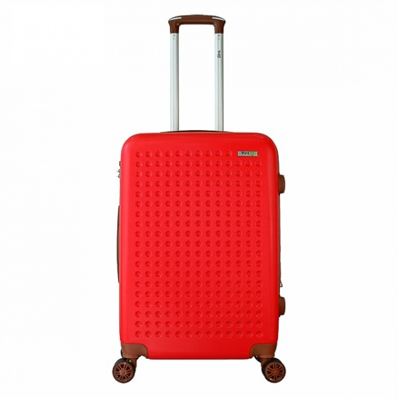 Vali nhựa du lịch, kéo Trip P803A size 60cm đỏ