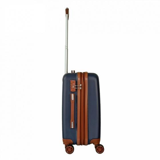 Vali nhựa du lịch, kéo Trip P803A size 50cm xanh đen