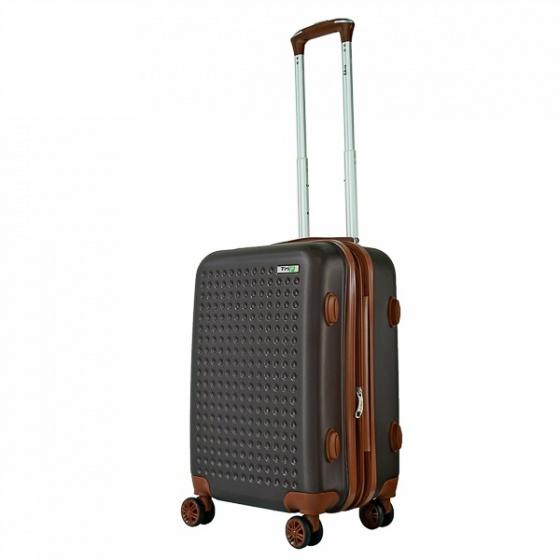 Vali nhựa du lịch, kéo, xách tay Trip P803A size 50cm cà phê