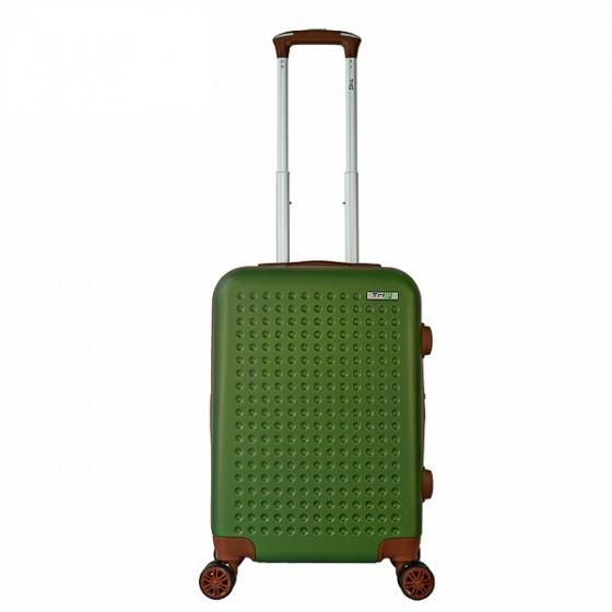 Vali nhựa du lịch, kéo Trip P803A size 50cm xanh rêu