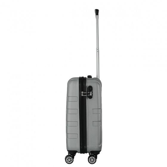 Vali nhựa kéo, du lịch Trip P12 Size 50cm màu bạc (TẶNG THẺ TREO VALI)