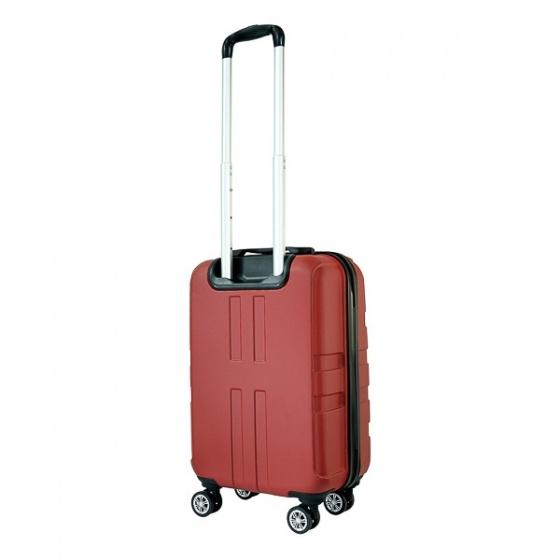 Vali nhựa kéo, du lịch Trip P12 size 50cm đỏ (TẶNG THẺ TREO VALI)