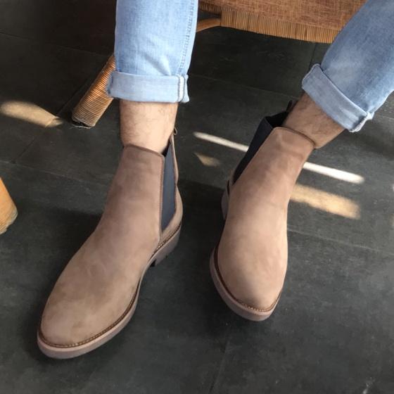 Giày chelsea boot nam da bò cao cấp Lucacy Chelv