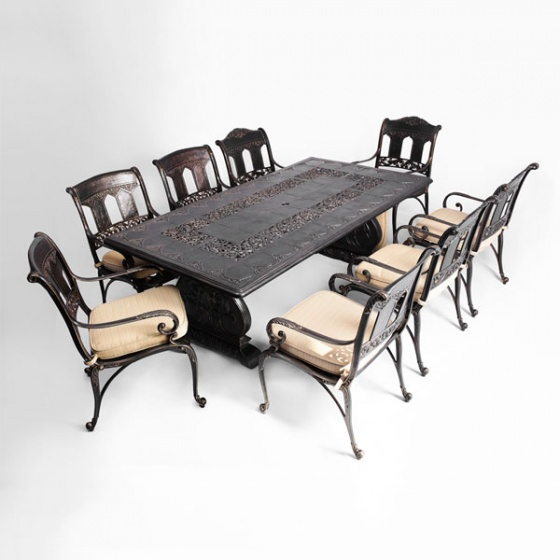 Bộ bàn ghế sân vườn biệt thự sang trọng BG-07CNN