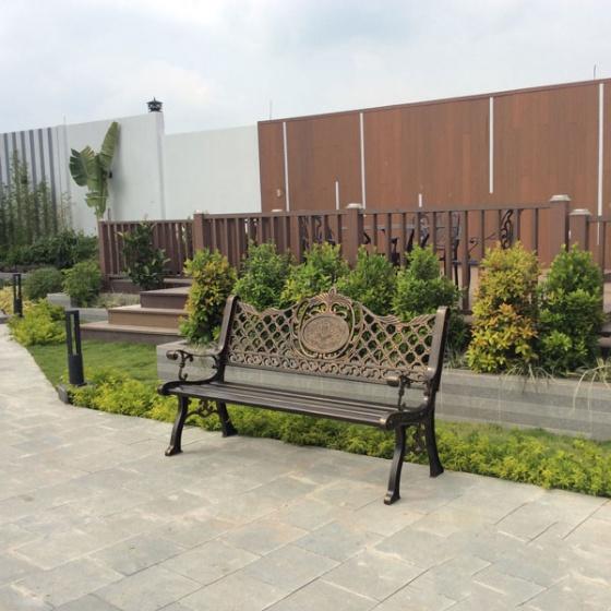 Ghế công viên nhôm đúc sang trọng GCV-06N
