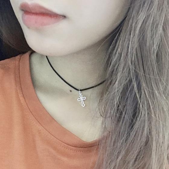 Dây chuyền mặt bạc hình thánh giá - Ngọc Quý Gemstones