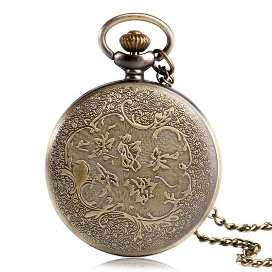 Đồng hồ pin quả quýt bỏ túi cổ điển retro tháng sinh 12 cung hoàng đạo Ma Kết Nam Dương Capricornus