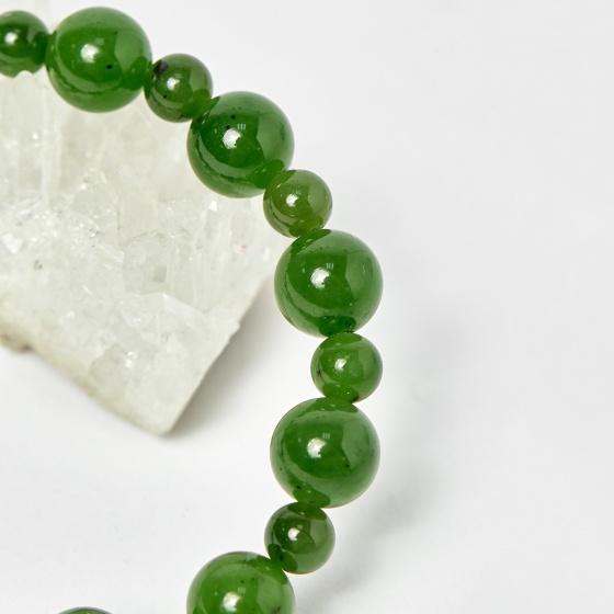 Vòng chuỗi Mân Côi đá ngọc bích hạt đá 10mm, ni 50mm - Ngọc Qúy Gemstones