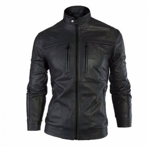 Áo khoác da nam lót lông Modelfashion phong cách Hàn Quốc AKD042