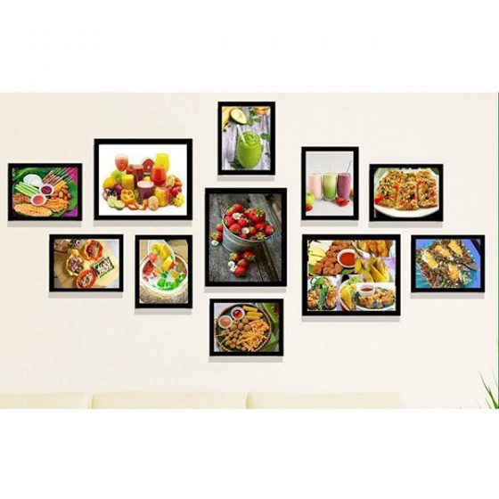 Khung ảnh composite thế giới đồ ăn 4 KA211 tặng ảnh