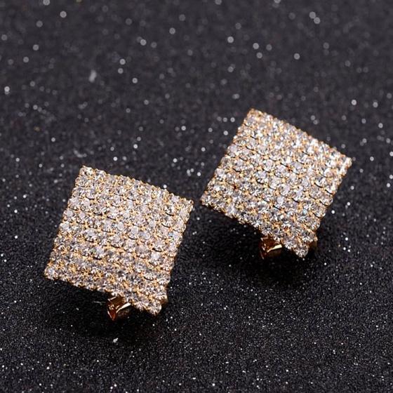 Bông tai đá zircon berlian - Tatiana - BH1147 (Vàng)
