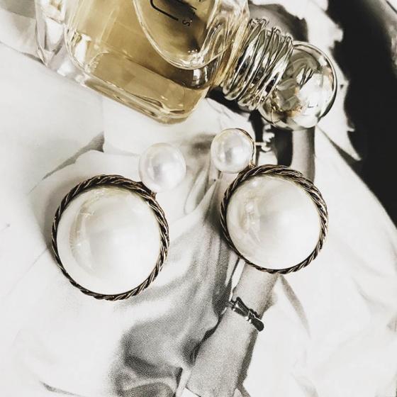 Bông tai double pearl lamour - Tatiana - Bh3370
