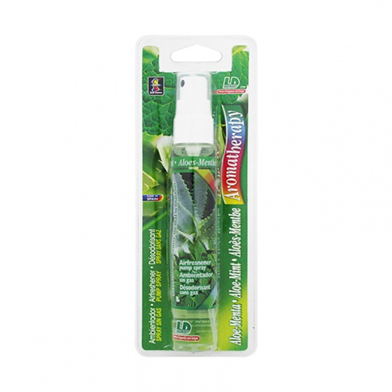 Nước hoa ô tô dạng xịt LD AROMATHERAPY Aloe Mint