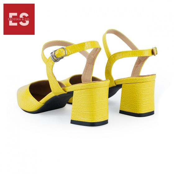 Giày nữ, giày cao gót kitten heels Erosska bít mũi phối dây thời trang cao 5 cm EK007 (YE)