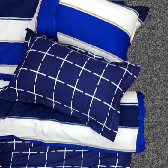 Bộ vỏ chăn ga gối 5 món cotton Hàn Julia 240BM18