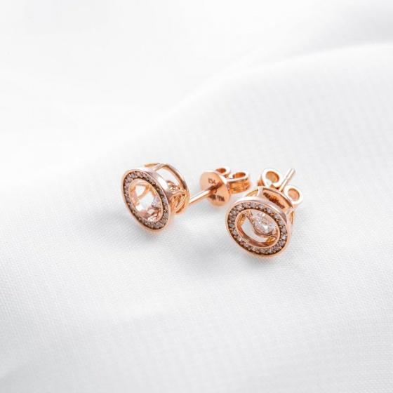 Bông tai vàng hồng DOJI 14K 0819E-NAL630