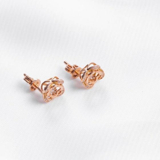 Bông tai vàng hồng DOJI 14K 0819E-NAL631