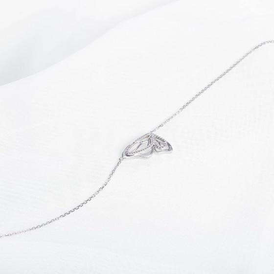 Dây chuyền vàng trắng liền mặt DOJI 14K 0819CP-LAL013