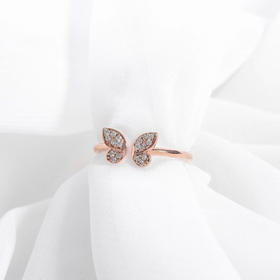 Nhẫn vàng hồng DOJI cao cấp 14K 0819R-LAL100