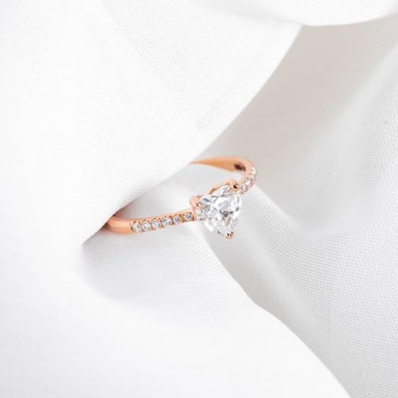 Nhẫn vàng hồng DOJI cao cấp 14K 0819R-LAL217