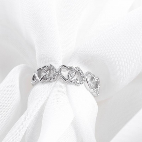 Nhẫn vàng trắng DOJI cao cấp 14K 0819R-LAL340