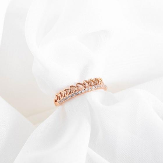 Nhẫn vàng hồng DOJI cao cấp 14K 0819R-LAL341