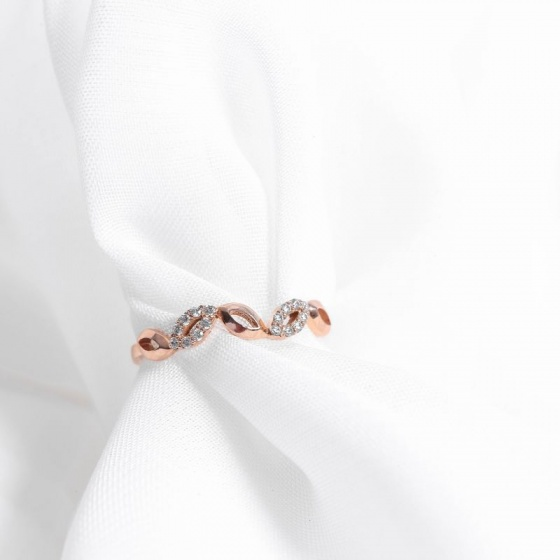 Nhẫn vàng hồng DOJI cao cấp 14K 0819R-LAL347