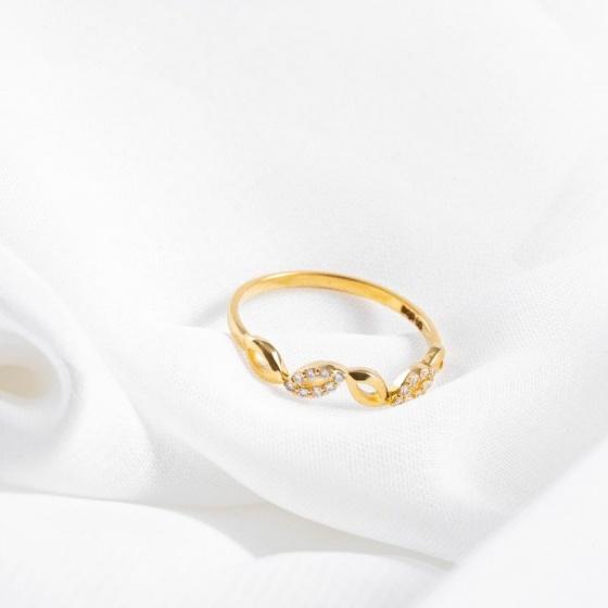 Nhẫn vàng DOJI cao cấp 14K 0819R-LAL347