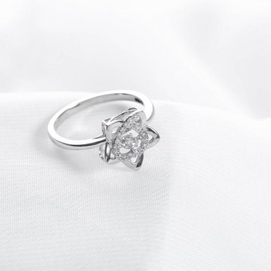 Nhẫn vàng trắng nữ cao cấp DOJI 14K 0819R-NAL632
