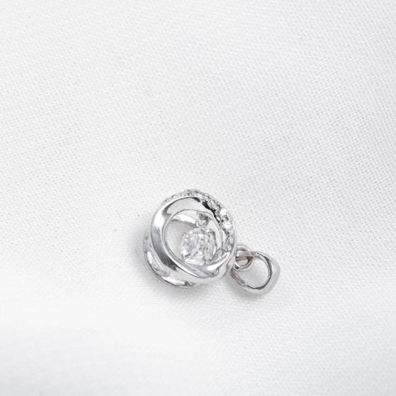Mặt dây chuyền vàng trắng đính đá DOJI 14K 0819P-NAL600