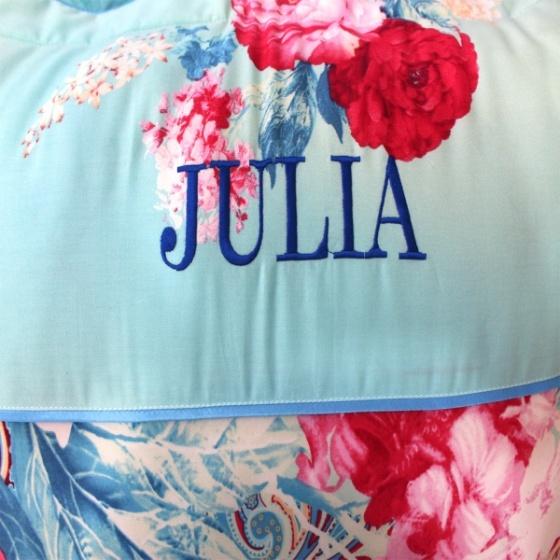 Bộ chăn ga gối 5 món cotton satin Hàn Julia 495RT16