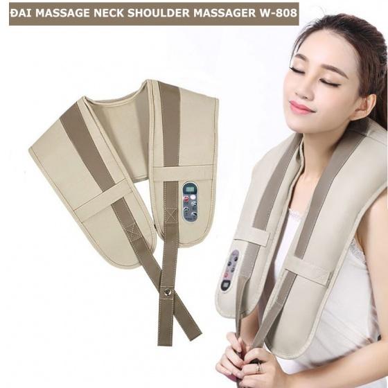 Đai massage đấm bóp lưng, vai, cổ, gáy neck shoulder W-808