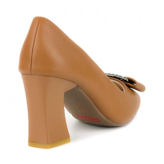 Giày cao gót êm chân Sunday CG45 nâu bò