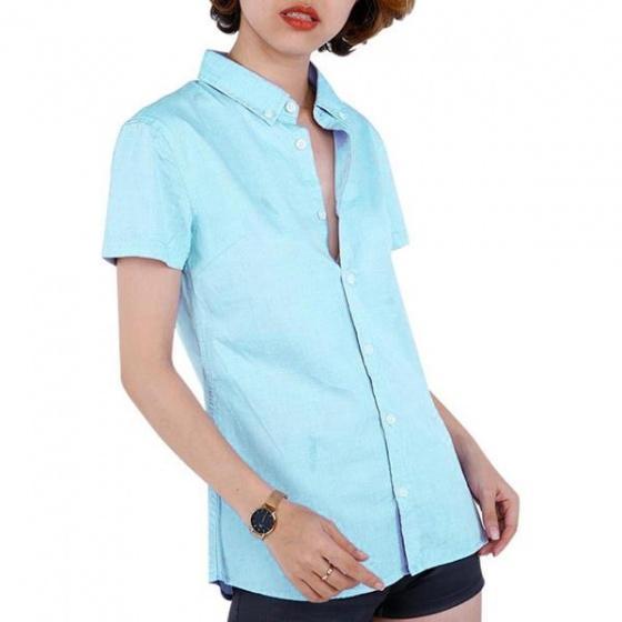 Áo sơ mi nữ Hàn Quốc Orange Factory UBT5WC3002 màu xanh ngọc - 85