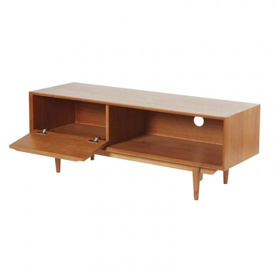 Tủ TV 1 cánh Portobello phong cách Vintage gỗ tự nhiên