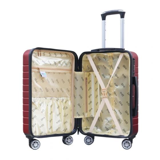 Set 2 vali chống trộm Trip PC911 size 50cm+60cm màu đỏ (tặng 2 gối cổ màu ngẫu nhiên)