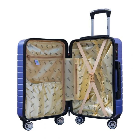 Set 2 vali chống trộm Trip PC911 size 50cm + 60cm xanh dương (tặng 2 gối cổ màu ngẫu nhiên)