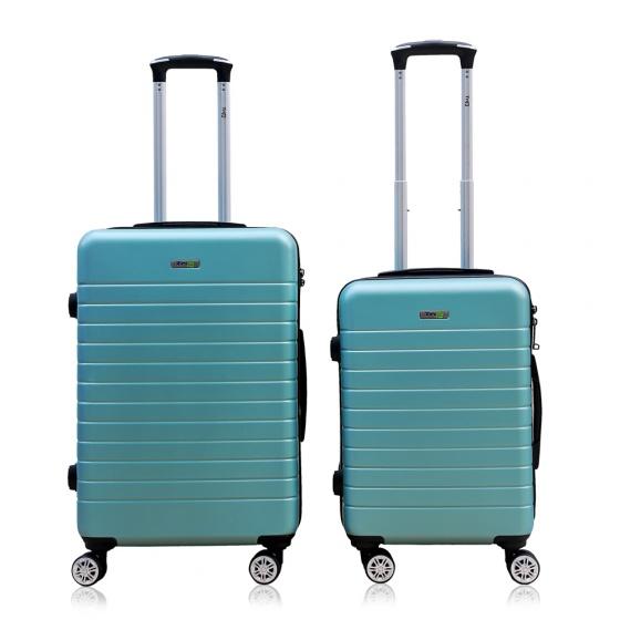 Combo 2 vali kéo Trip PC911 size 50cm+60cm xanh ngọc (tặng 2 gối cổ)