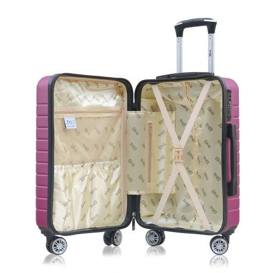 Vali chống trộm Trip PC911 size 60cm tím hồng (tặng 1 gối cổ màu ngẫu nhiên)