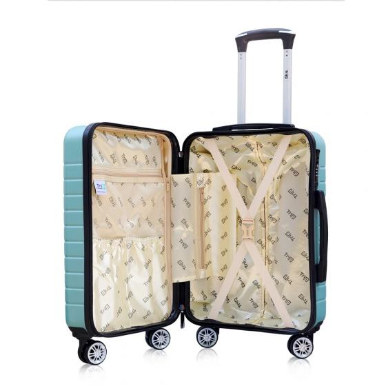 Vali chống trộm Trip PC911 size 60cm xanh ngọc (tặng 1 gối cổ màu ngẫu nhiên)