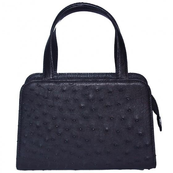 Túi xách nữ Huy Hoàng da đà điểu cỡ nhỏ màu đen HV6463