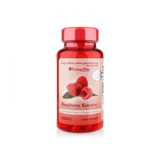 Viên uống hỗ trợ giảm cân đẹp da của Puritan's Pride - Raspberry Ketones 100mg 60 viên DATE T2/2021