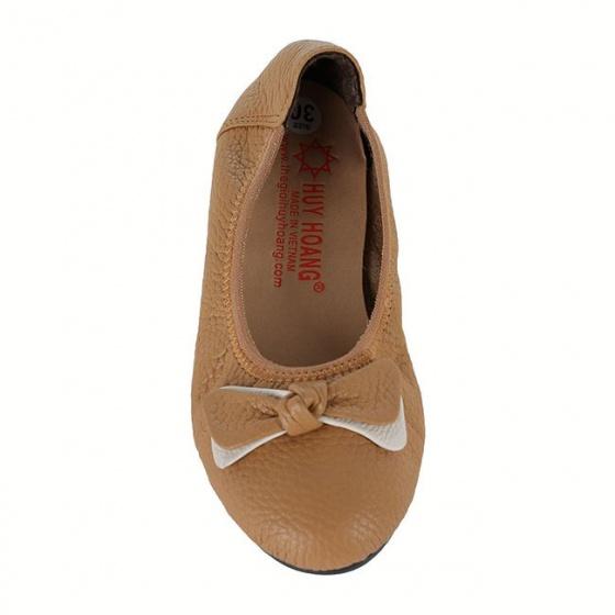 Giày trẻ em nữ Huy Hoàng da bò màu da HV7860