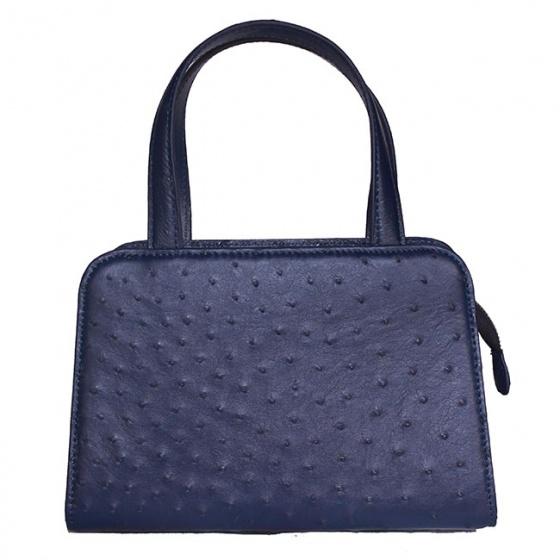 Túi xách nữ Huy Hoàng da đà điểu cỡ nhỏ màu xanh đậm HV6468