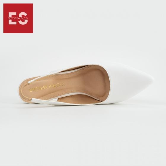 Giày cao gót mũi nhọn quai thun gót tròn thời trang Erosska cao 5cm EK009 (màu nude)