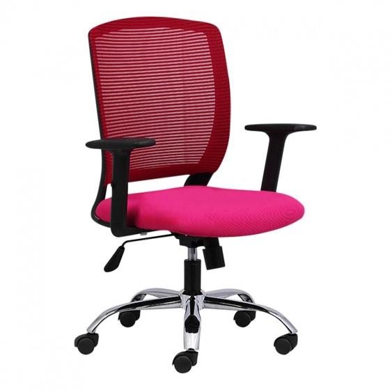 Ghế văn phòng IM100301 bọc vải chân thép mạ có tay - IBIE