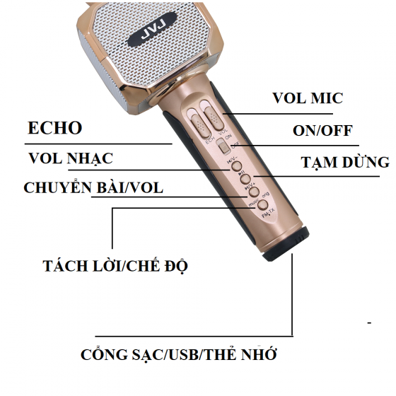 Micro karaoke Bluetooth JVJ SD-10