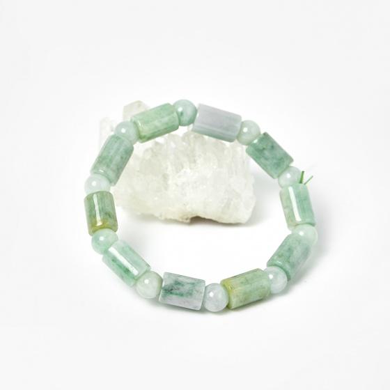Vòng đốt trúc cẩm thạch phỉ thúy 11.5x8mm, ni 52 mệnh hỏa, mộc - Ngọc Quý Gemstones