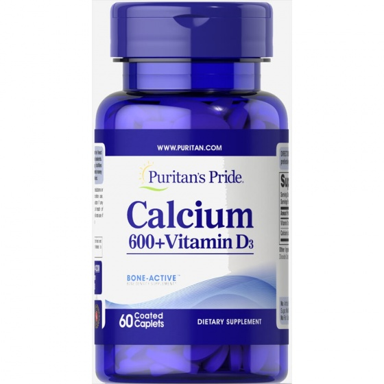 Viên uống bổ sung Canxi và Vitamin D3 chống loãng xương Puritan's Pride 60viên DATE T3/2021