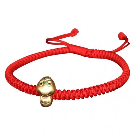 Vòng tay kết dây tuổi Tỵ vàng - Ngọc Quý Gemstones